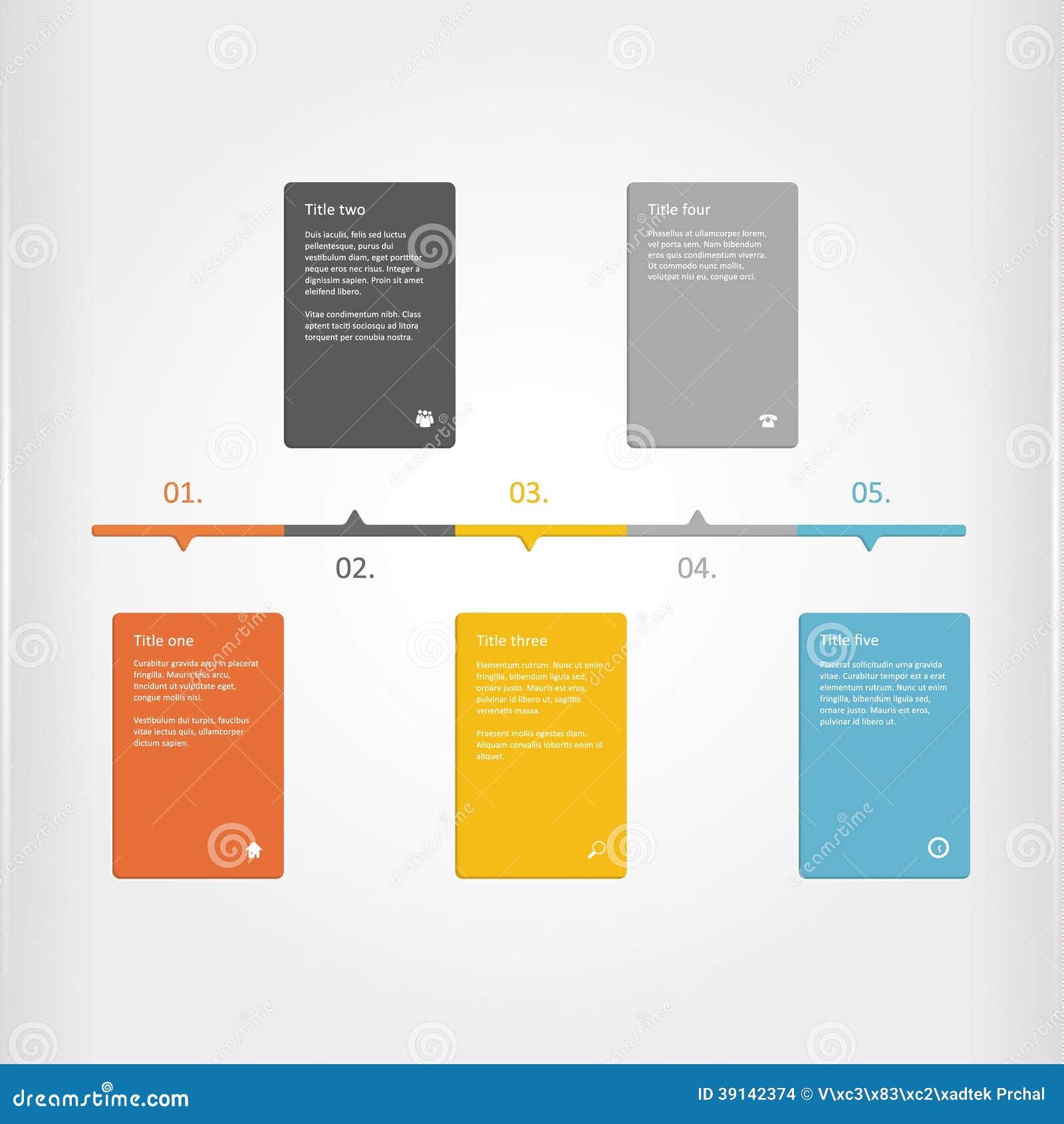 Vector Creative Timeline Template Matt Timeline Profile Colorf - Graphic timeline template