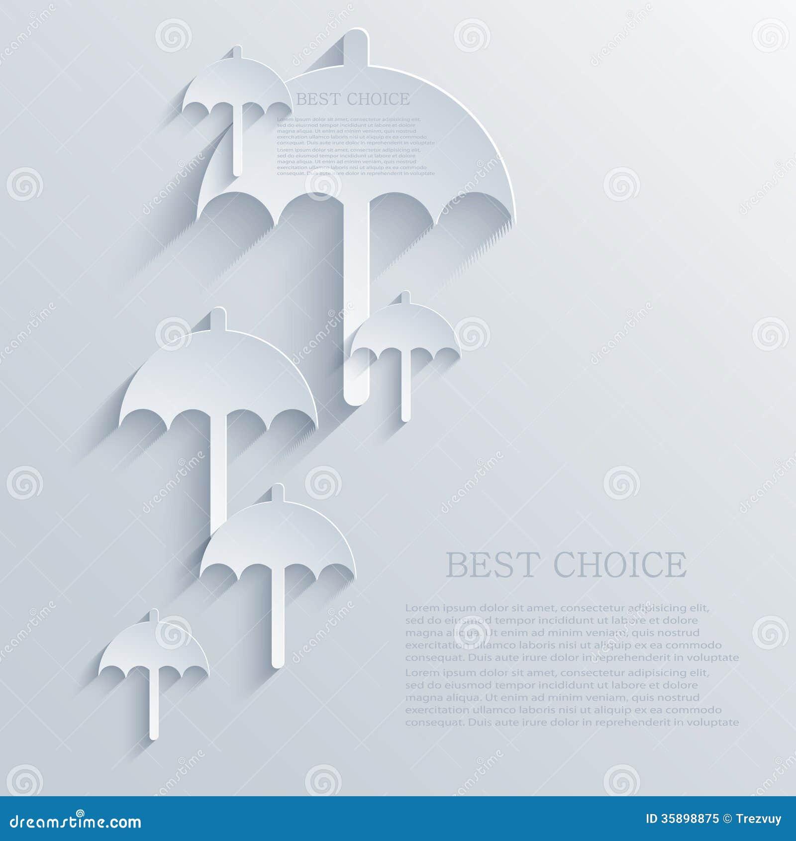 Vector Creative Umbrella Background. Eps 10 Royalty Free
