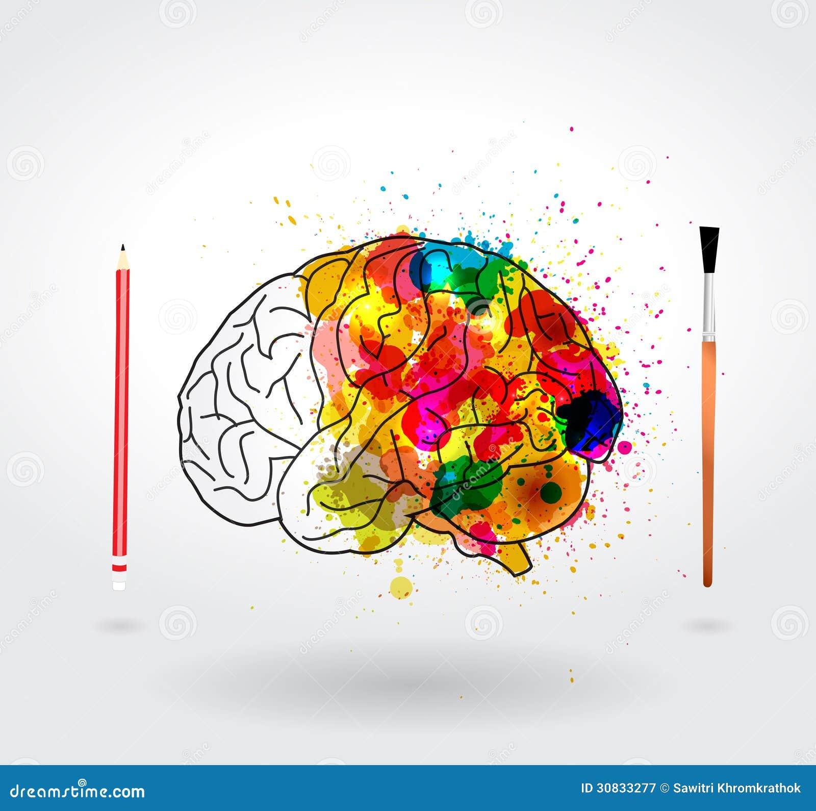 vector creativity brain stock vector  image of artist