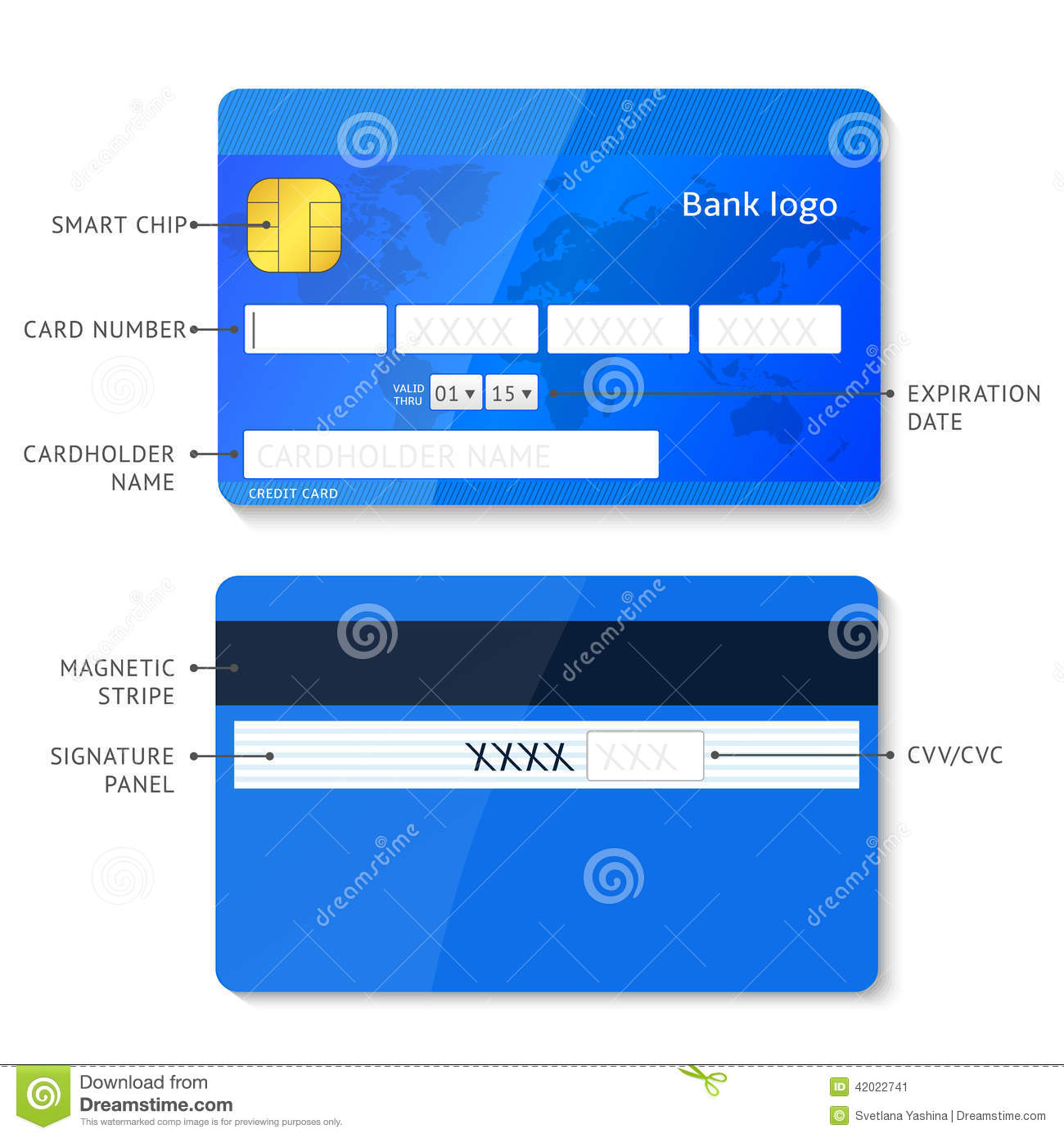 vector credit card infographic stock vector