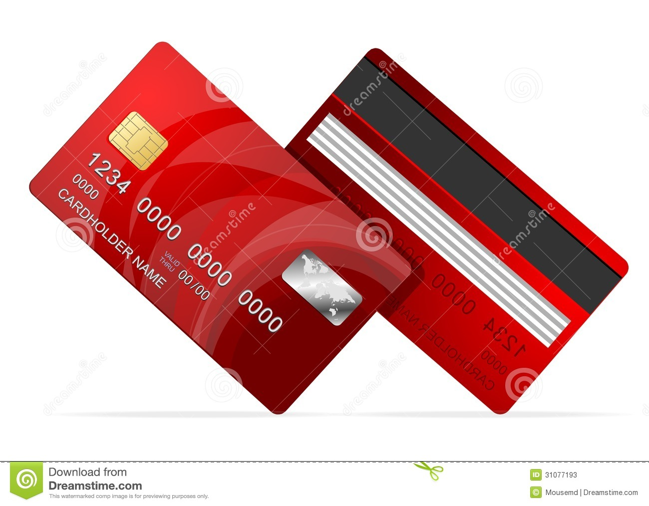 vector credit card red icon on white stock photos
