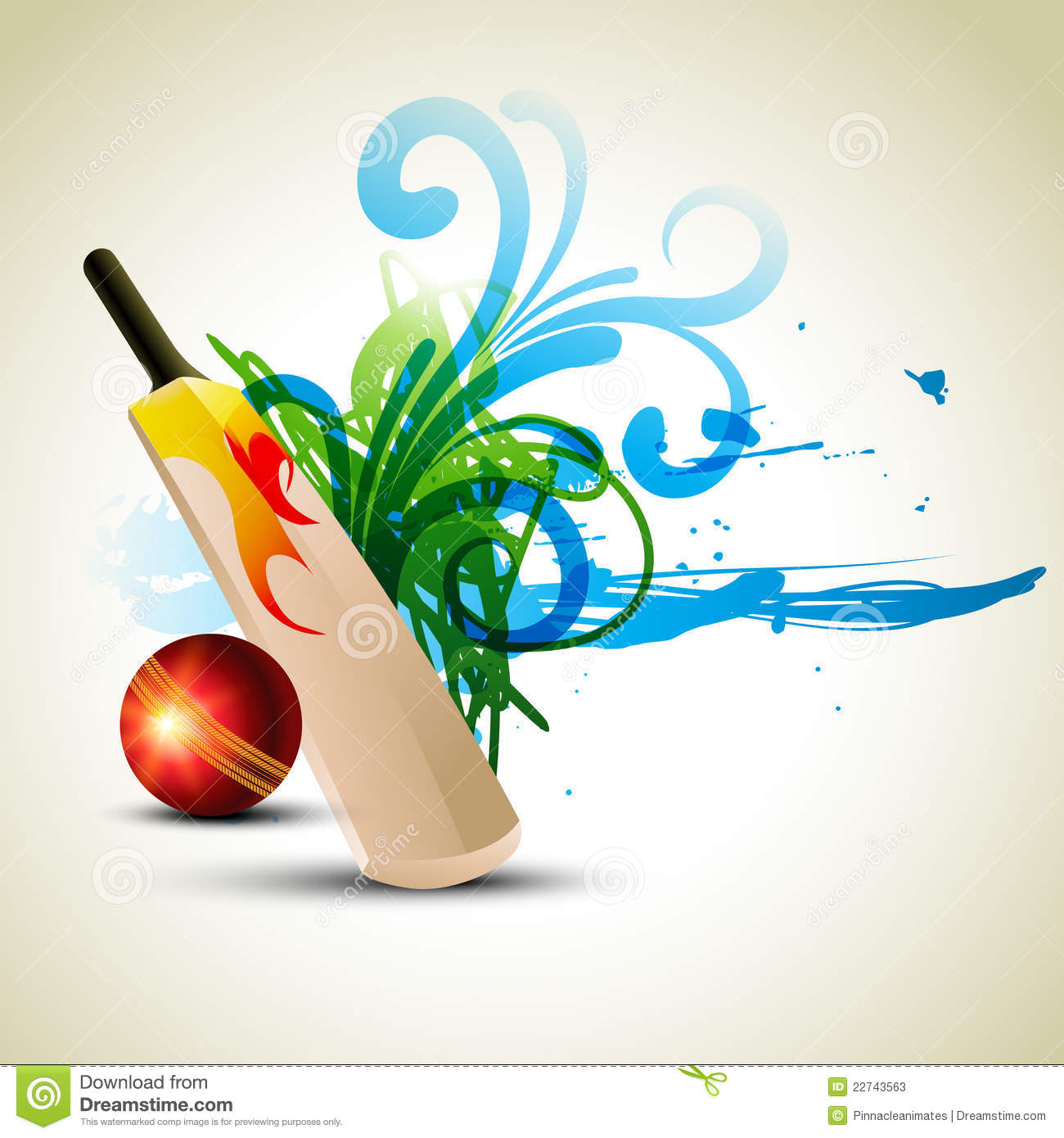 More similar stock images of ` Vector cricket background `