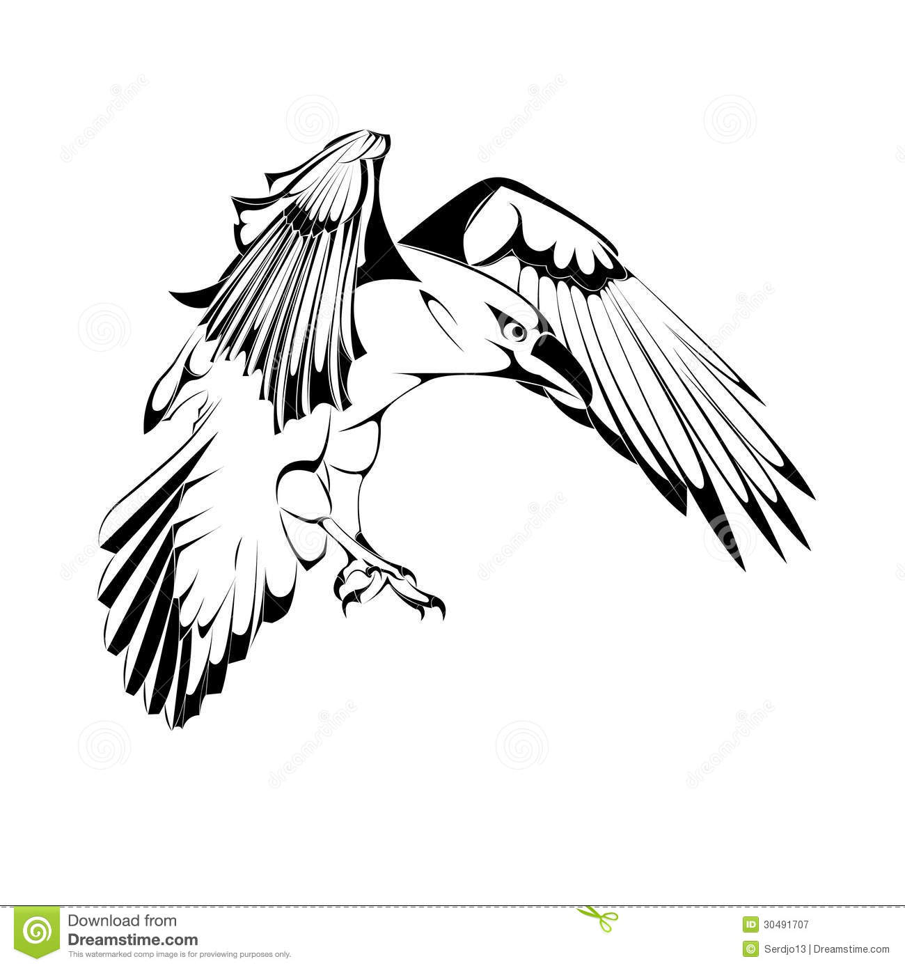 Vector Crow Royalty Free Stock Photography Image 30491707