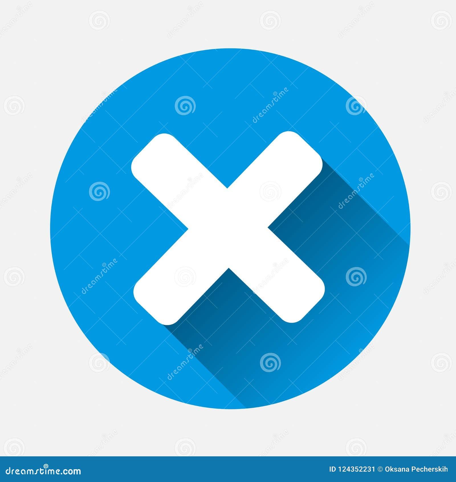 Vector cruzado de la prohibición en fondo azul RRPP planas de la cruz de la imagen