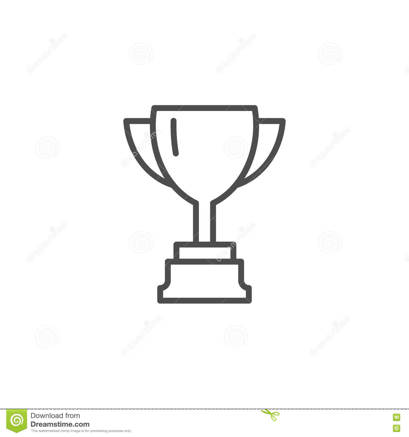 Vector Cup. Thin Line Winner Cup. Trophy Cup Icon. Black ...