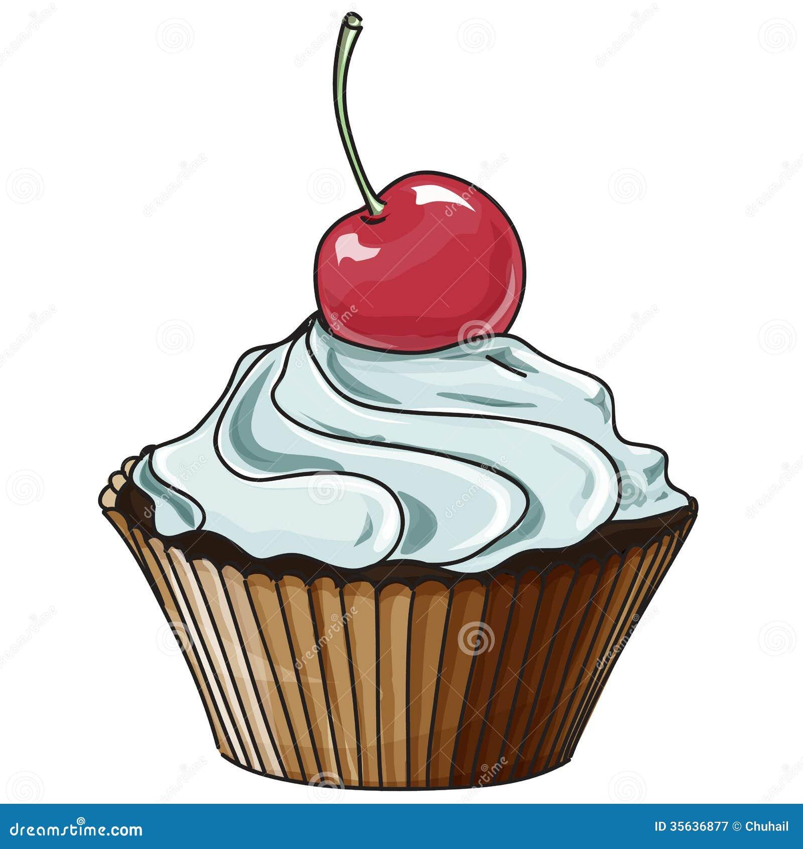 Рисованная картинка пирожного