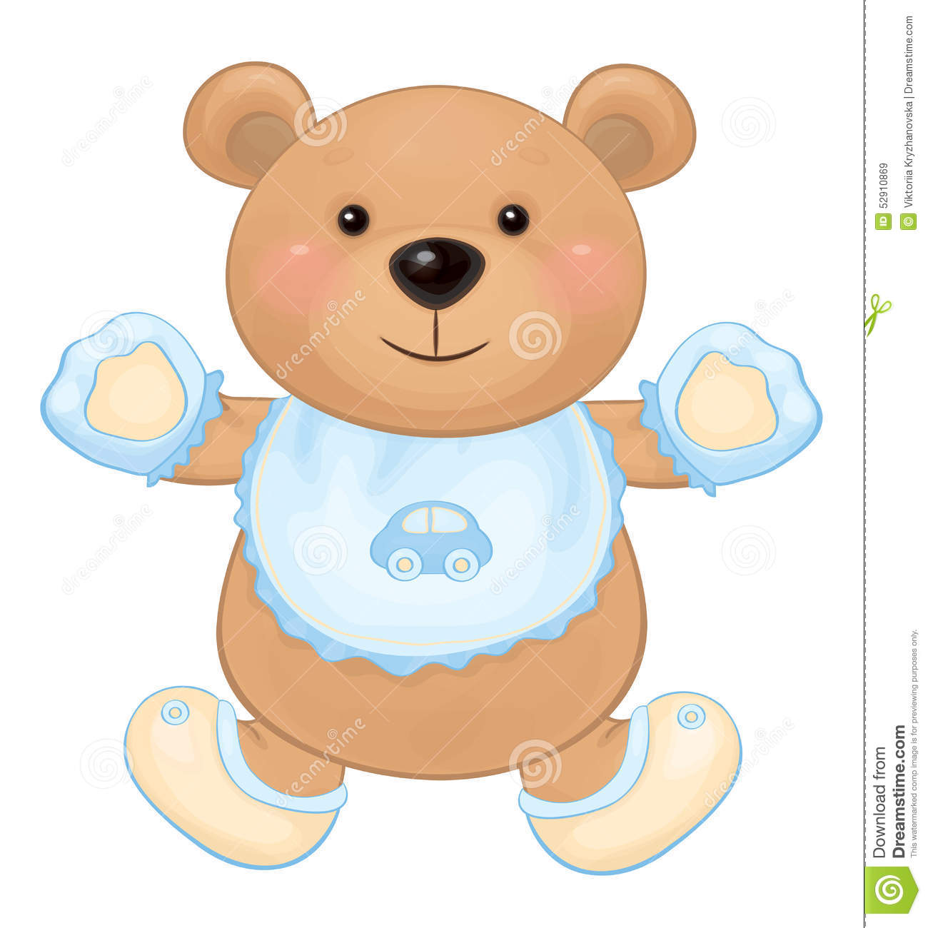 Vector Cute Baby Bear Cartoon Stock Vector Illustration