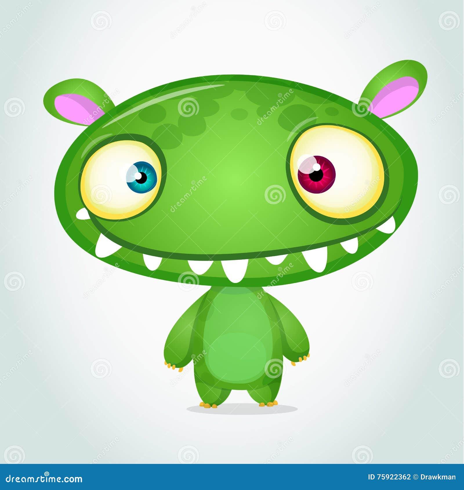 Vector cute cartoon monster alien. Halloween monster character