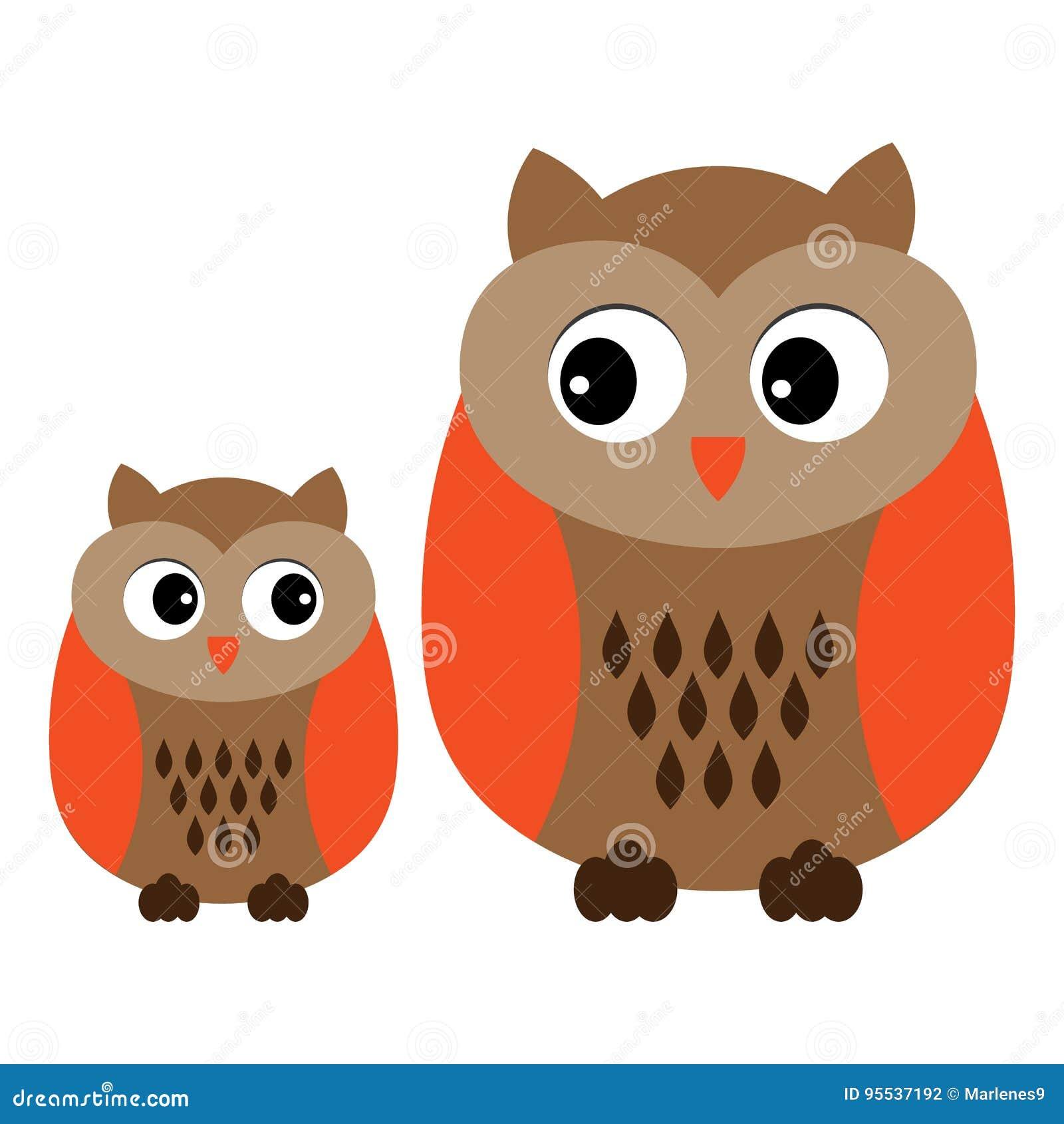 vector cute cartoon owls owls clipart baby owl vector illustration rh dreamstime com baby girl owl clipart baby owl clipart