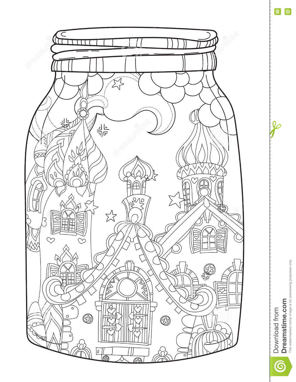 Christmas doodle coloring pages print christmas best for Christmas town coloring pages