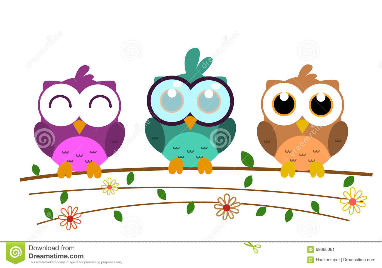 colorful cute owl vector - photo #46