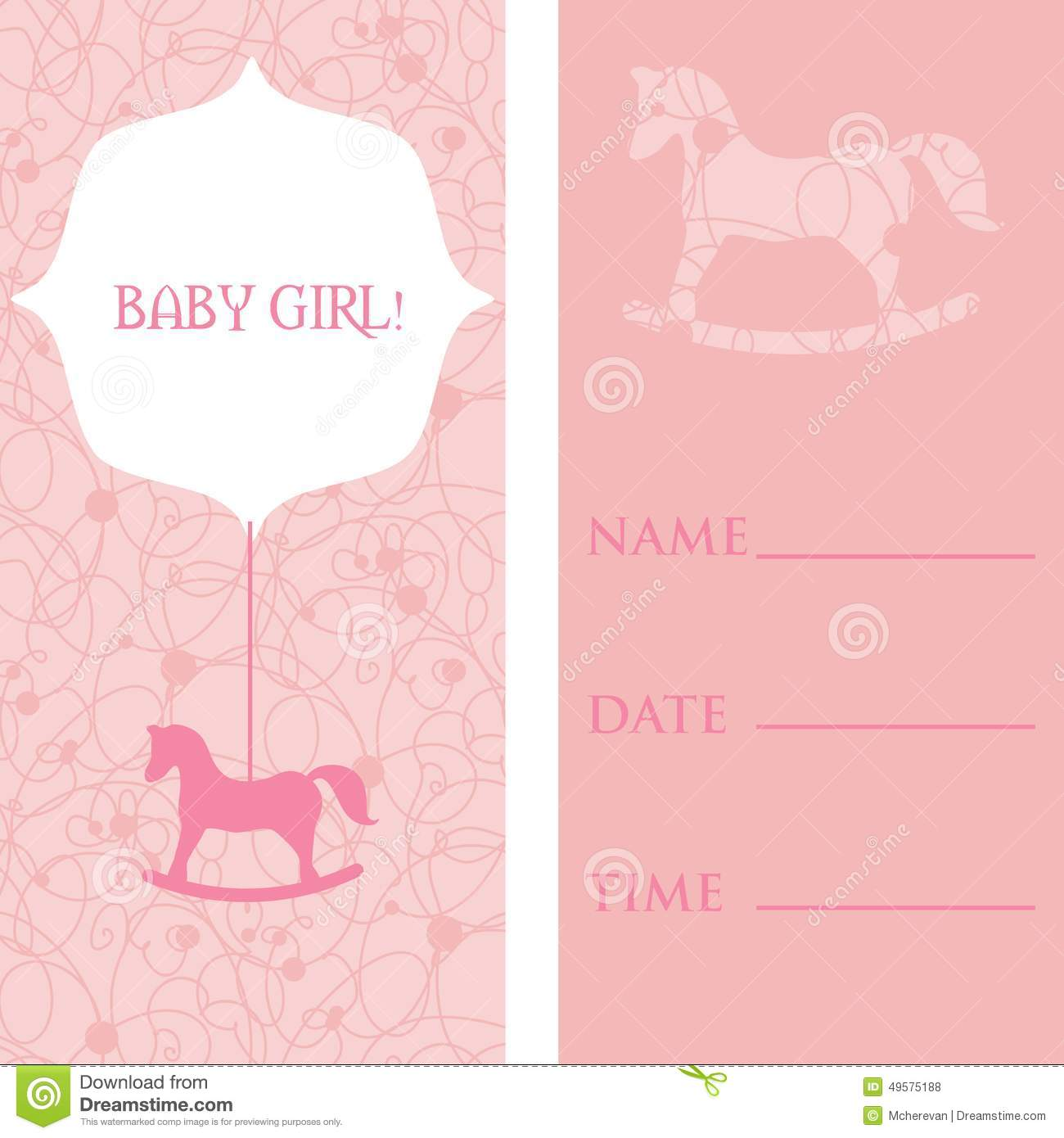Vector Cute Greeting Card Its A Boy Stock Illustration