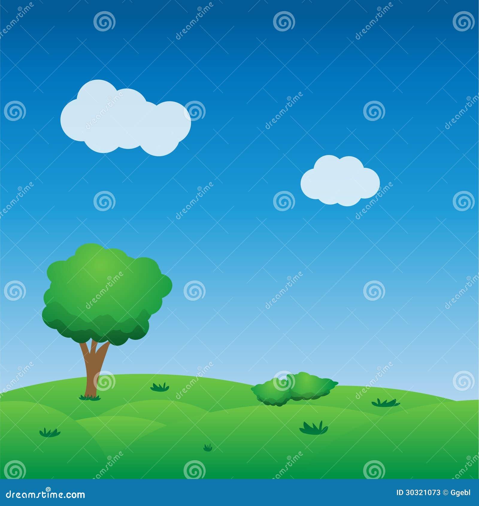 Vector Cute Landscape Background Stock Photos Image