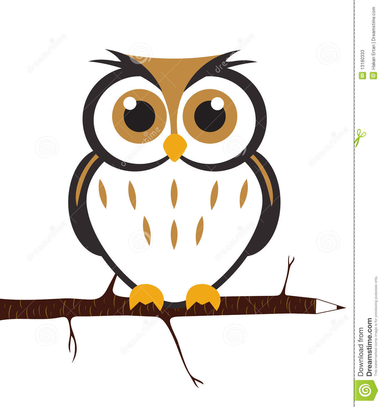 Vector Cute Owl Stock Photos - Image: 13180333