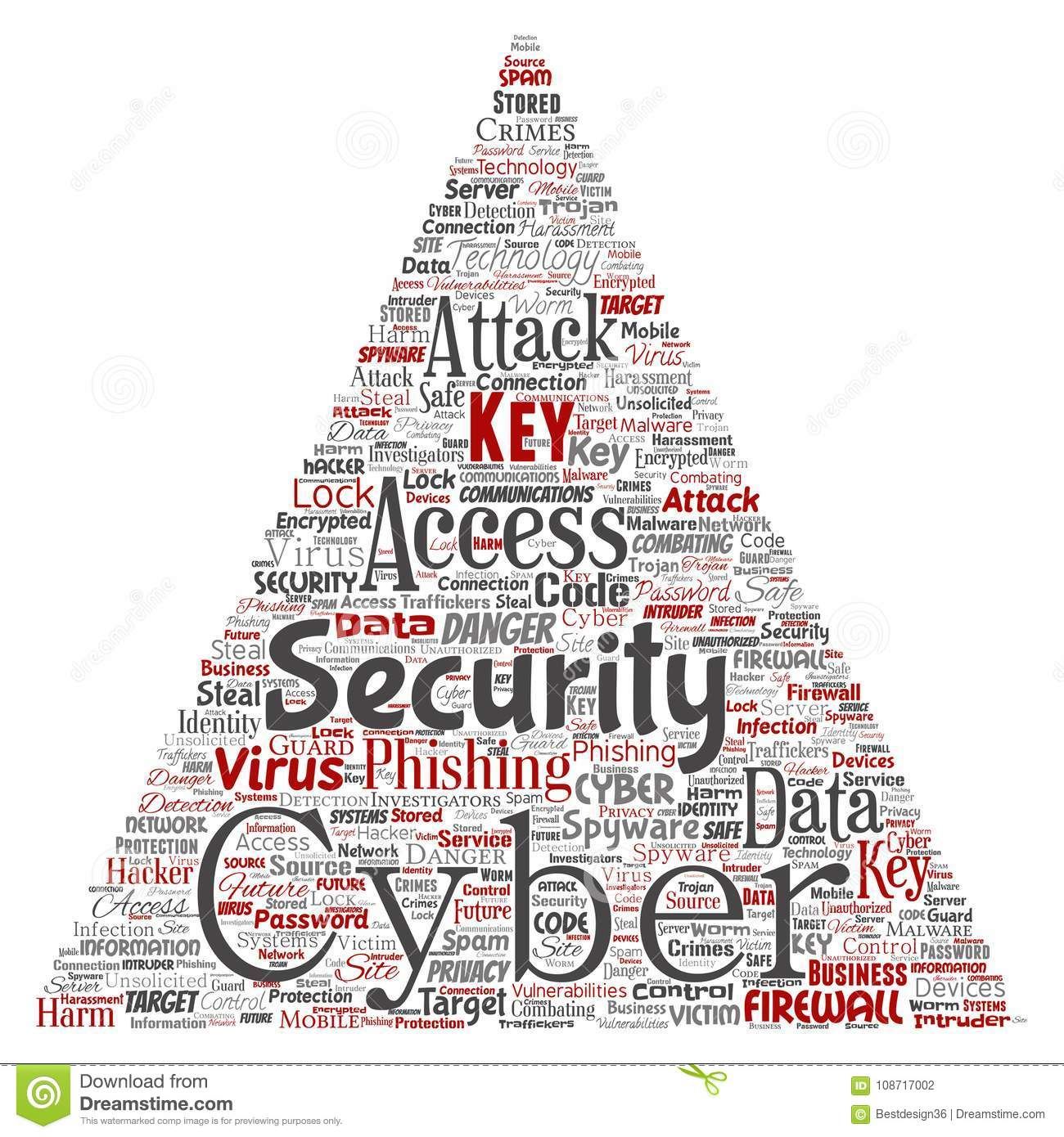 Vector Cyber Security Online Access Technology Triangle Stock Vector