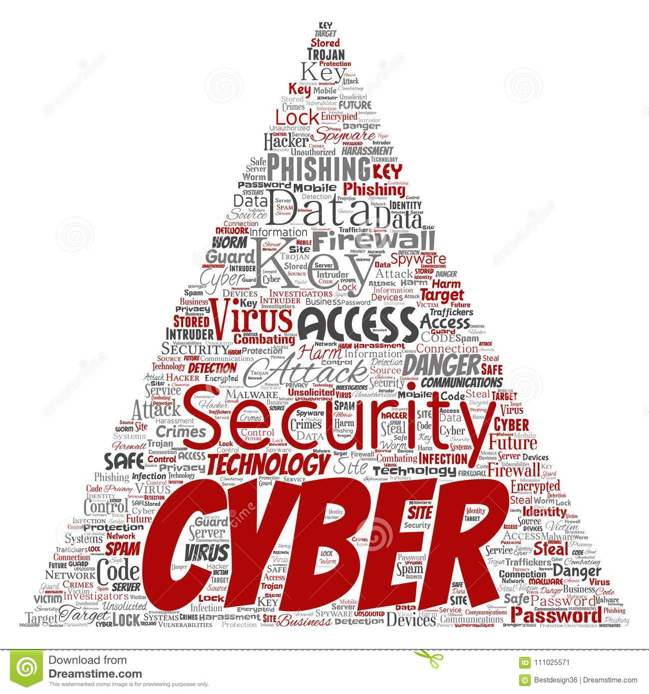 Vector Cyber Security Online Access Technology Stock Vector
