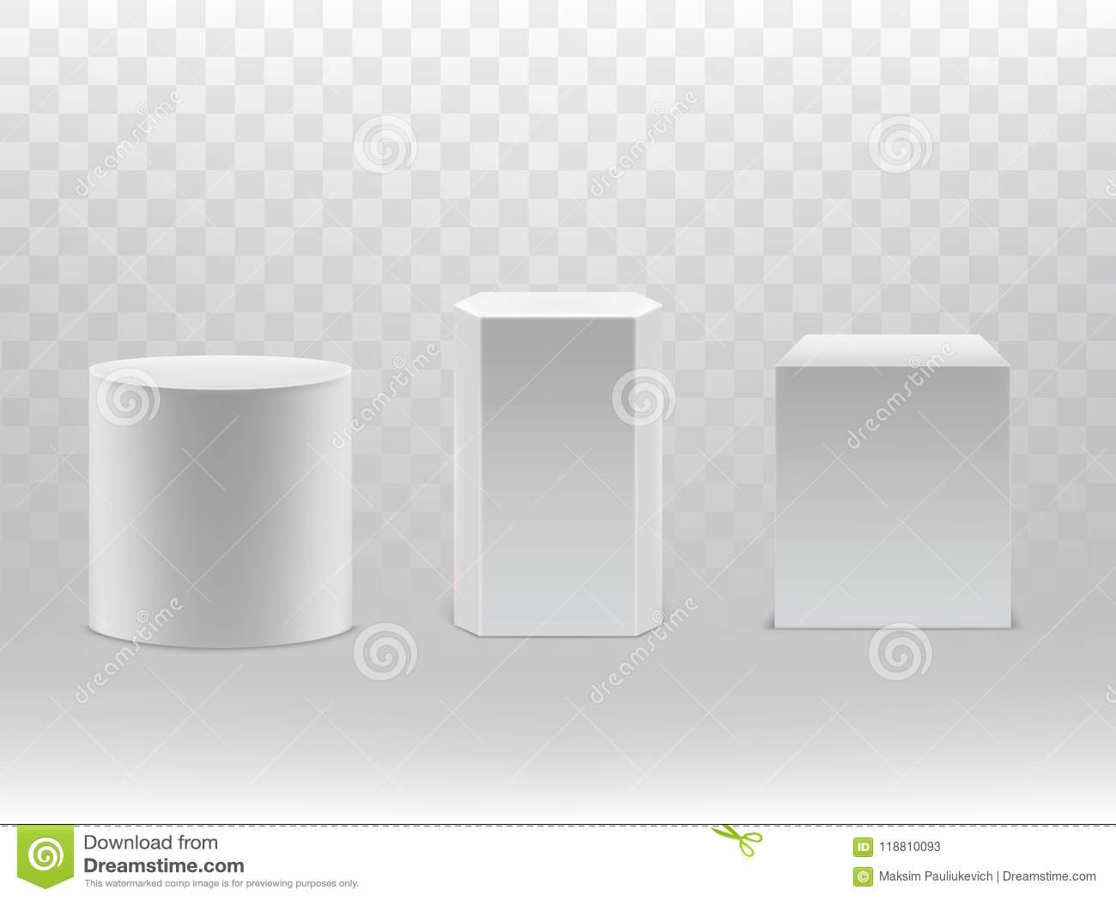 Vector 3d реалистические геометрические формы цилиндр, куб