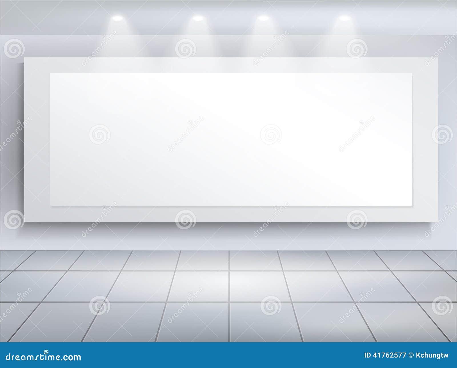 Vector 3d Blank Billboard Template Stock Vector Illustration Of