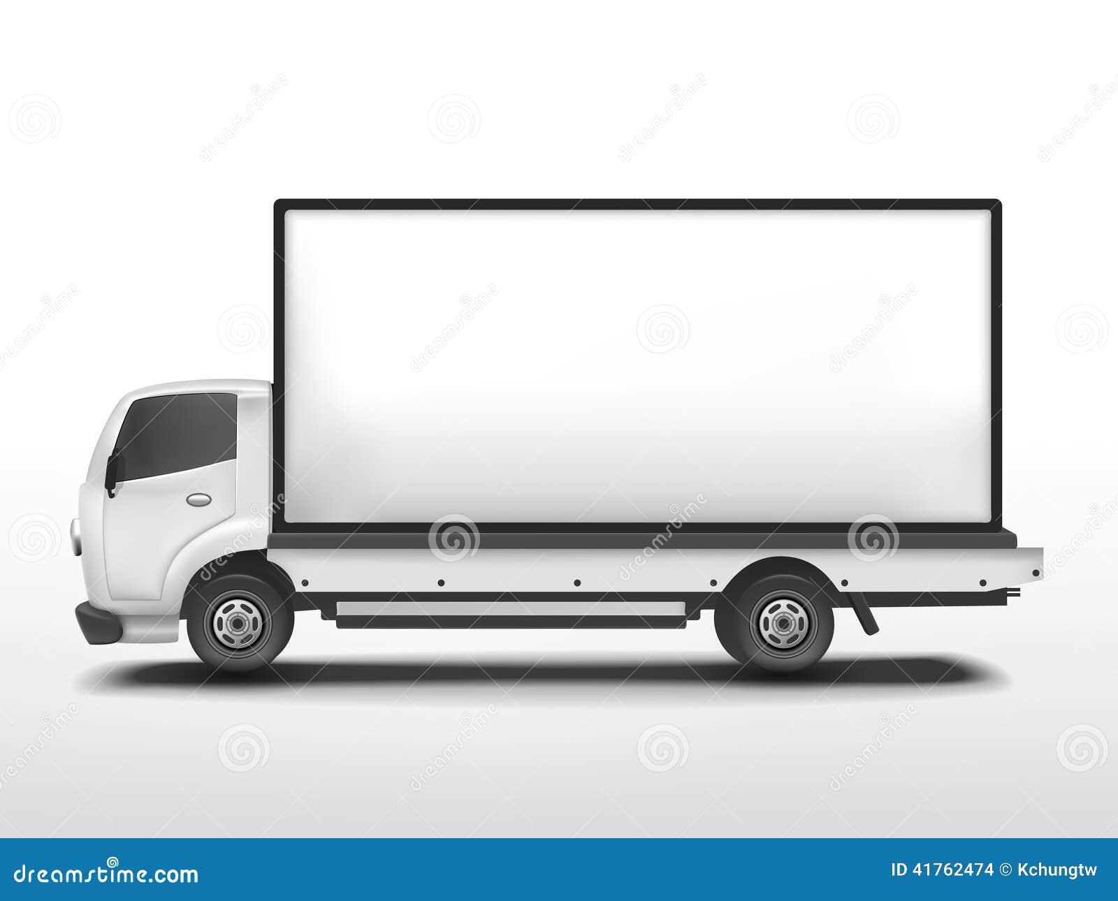 Vector 3d Blank Mobile Billboard Stock Vector - Image: 41762474
