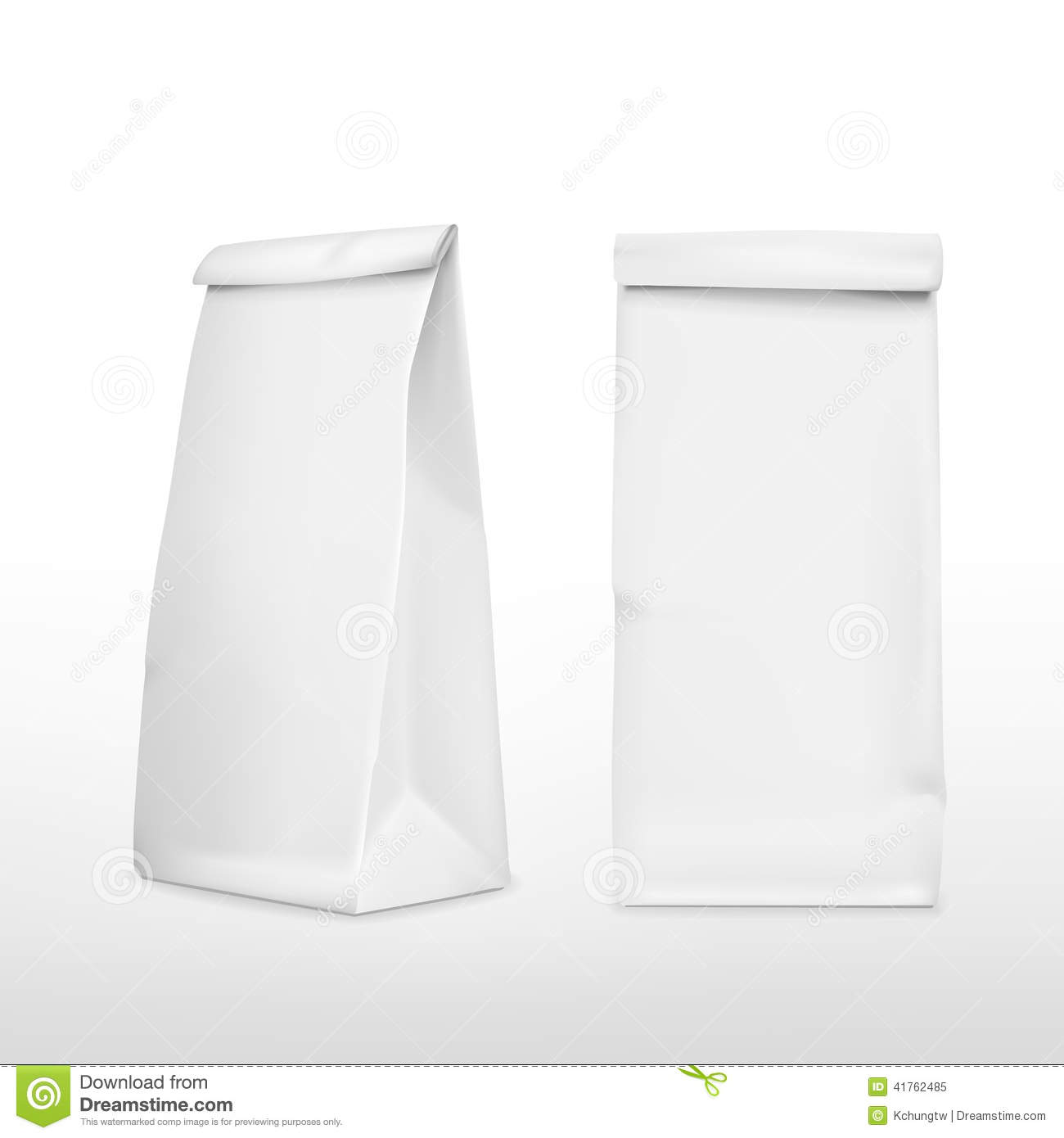 Vector 3d blank paper bag stock vector. Illustration of ...White Paper Bag Vector