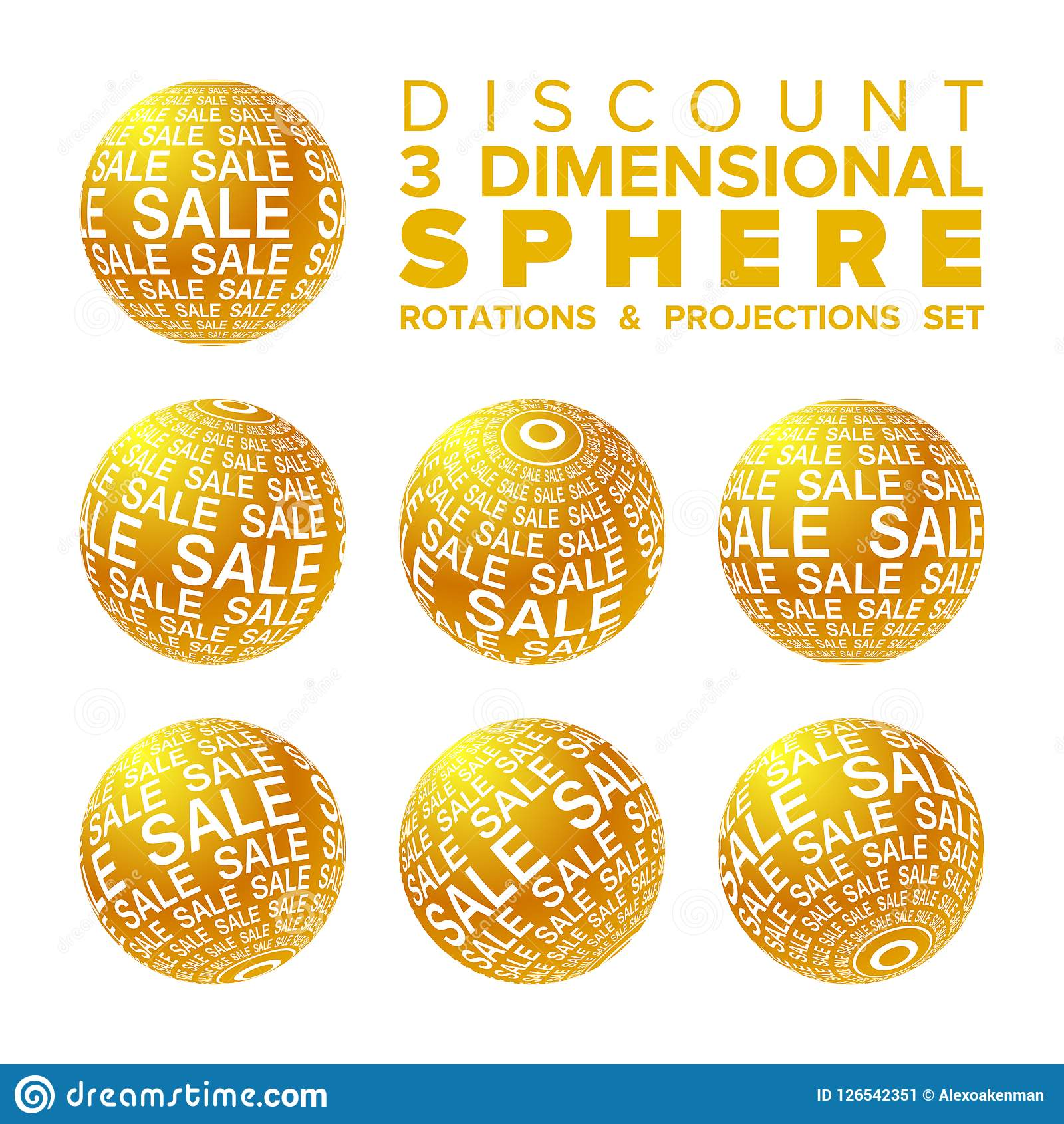 vector 3d christmas sale banner golden and white ball rotations and