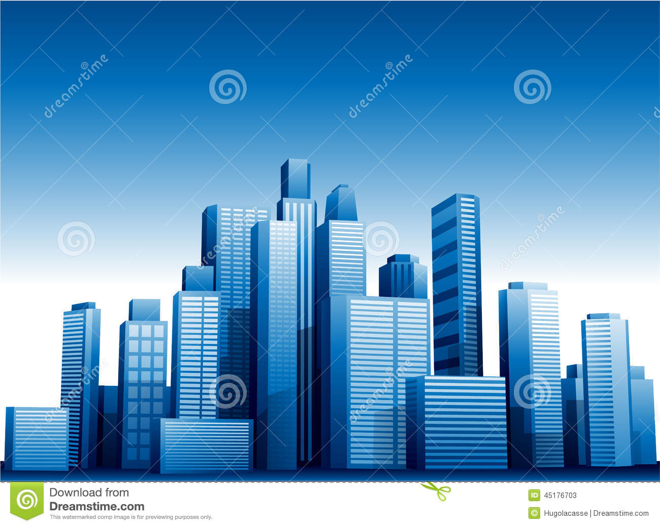 Vector 3d Cityscape Buildings Background Stock Vector
