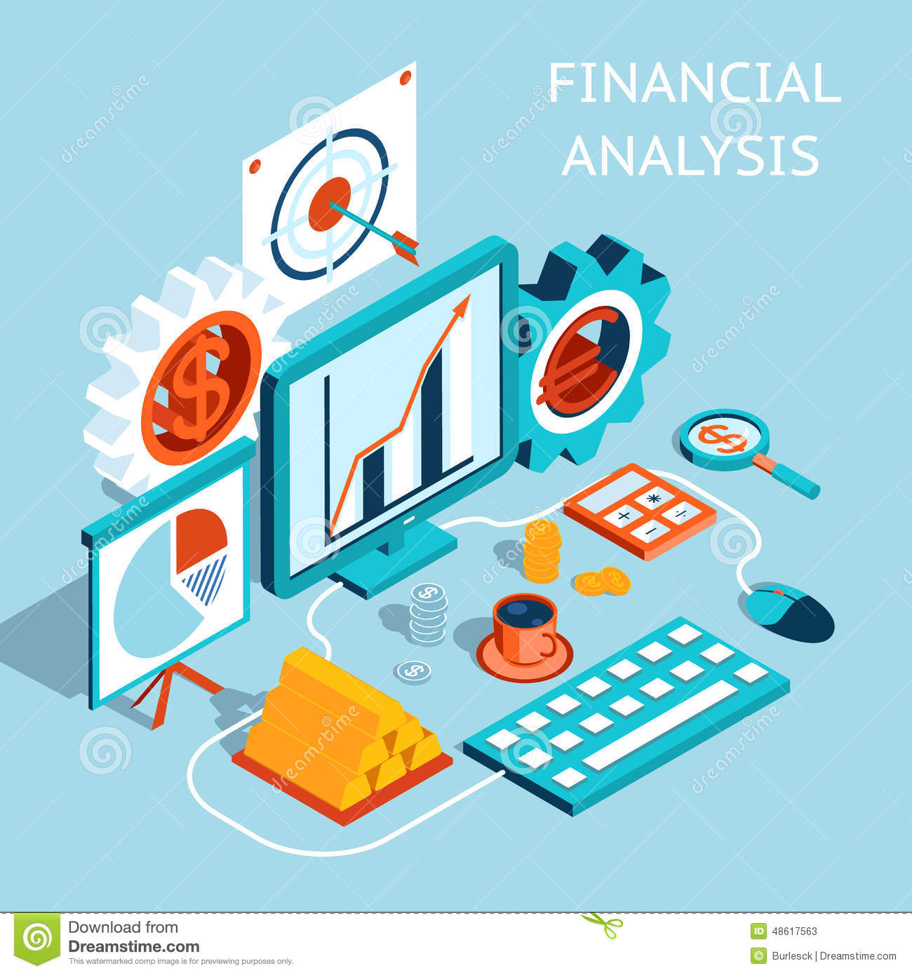 Vector 3D Financial Analysis Concept Design Vector Image – Financial Analysis