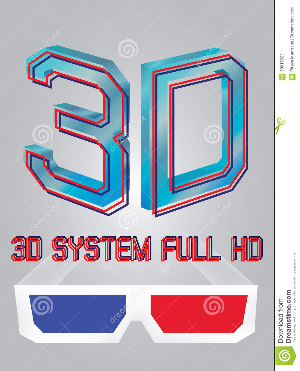 Vector 3d Full Hd Logo Stock Illustration Image 60616929