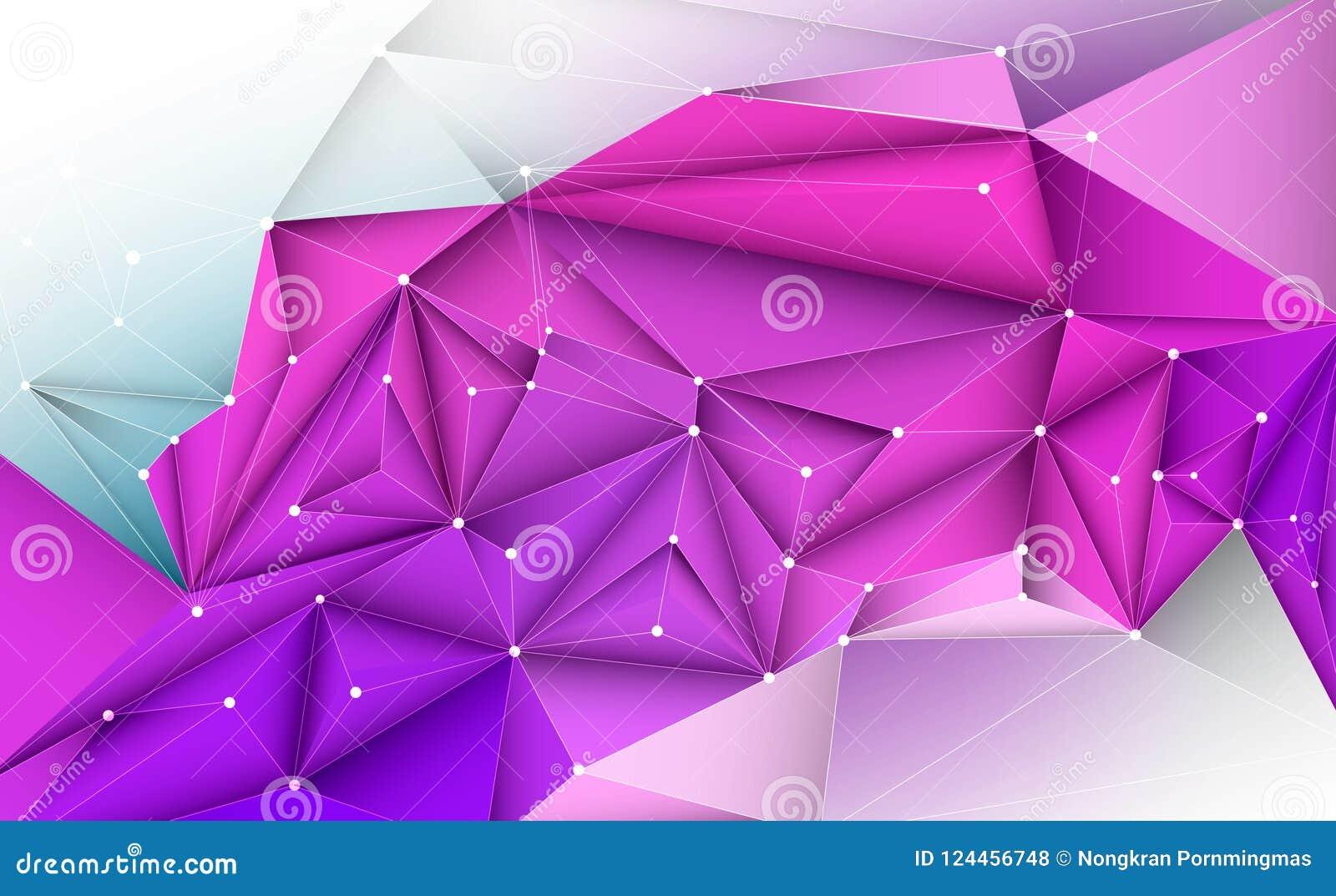 Vector 3D a ilustração geométrica, polígono, linha, teste padrão do triângulo