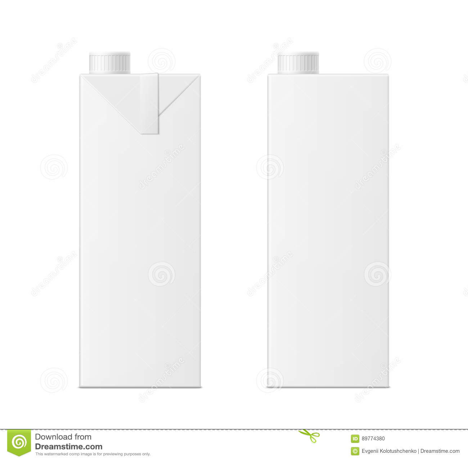 Juice box template vector