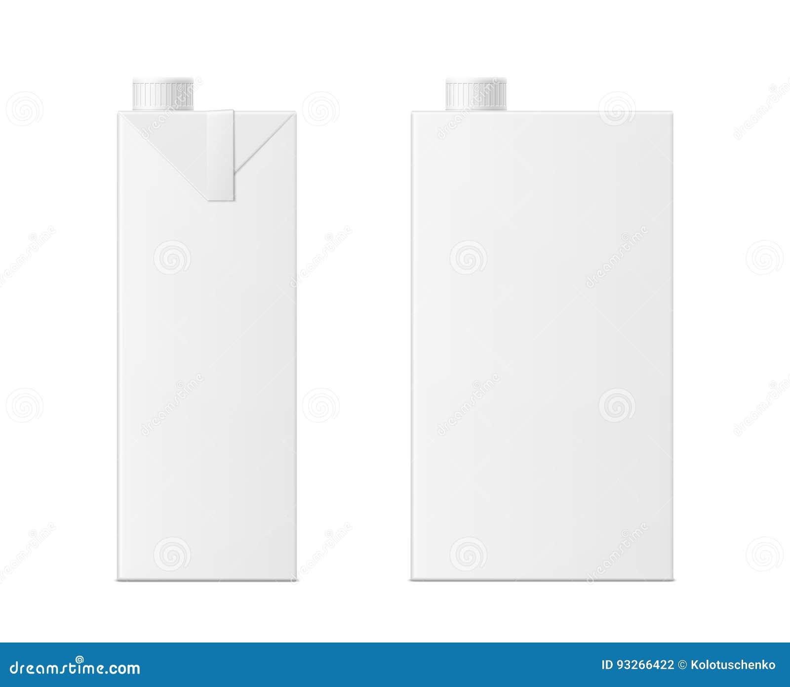vector 3d mock up of milk or juice box stock vector illustration