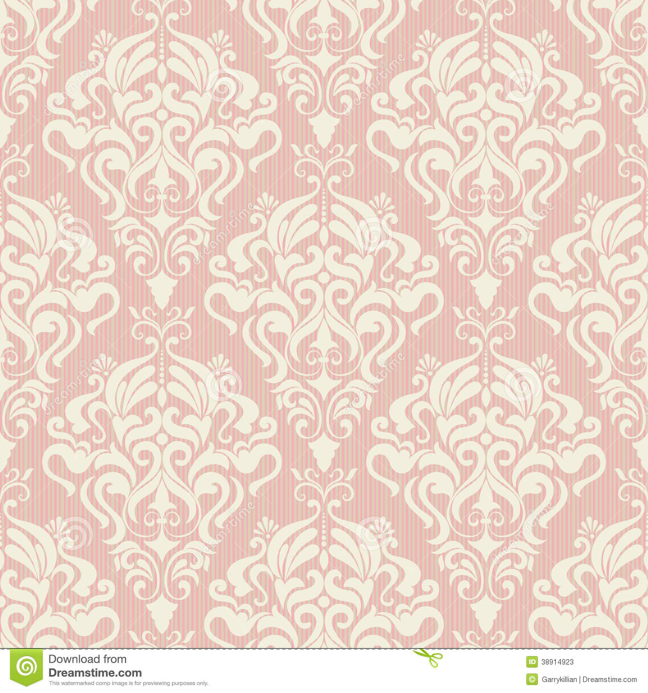 Seamless Damask Vector...