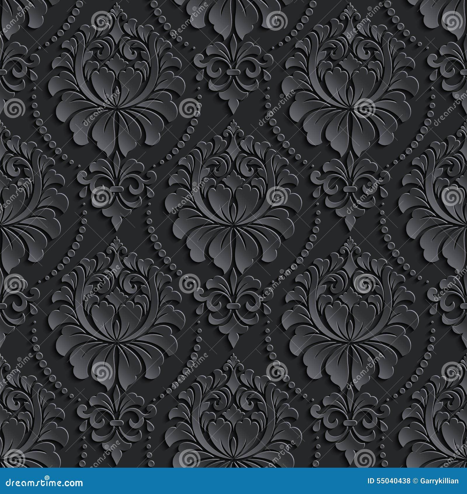 Vector Damask Seamless Pattern Background. Elegant Stock ...