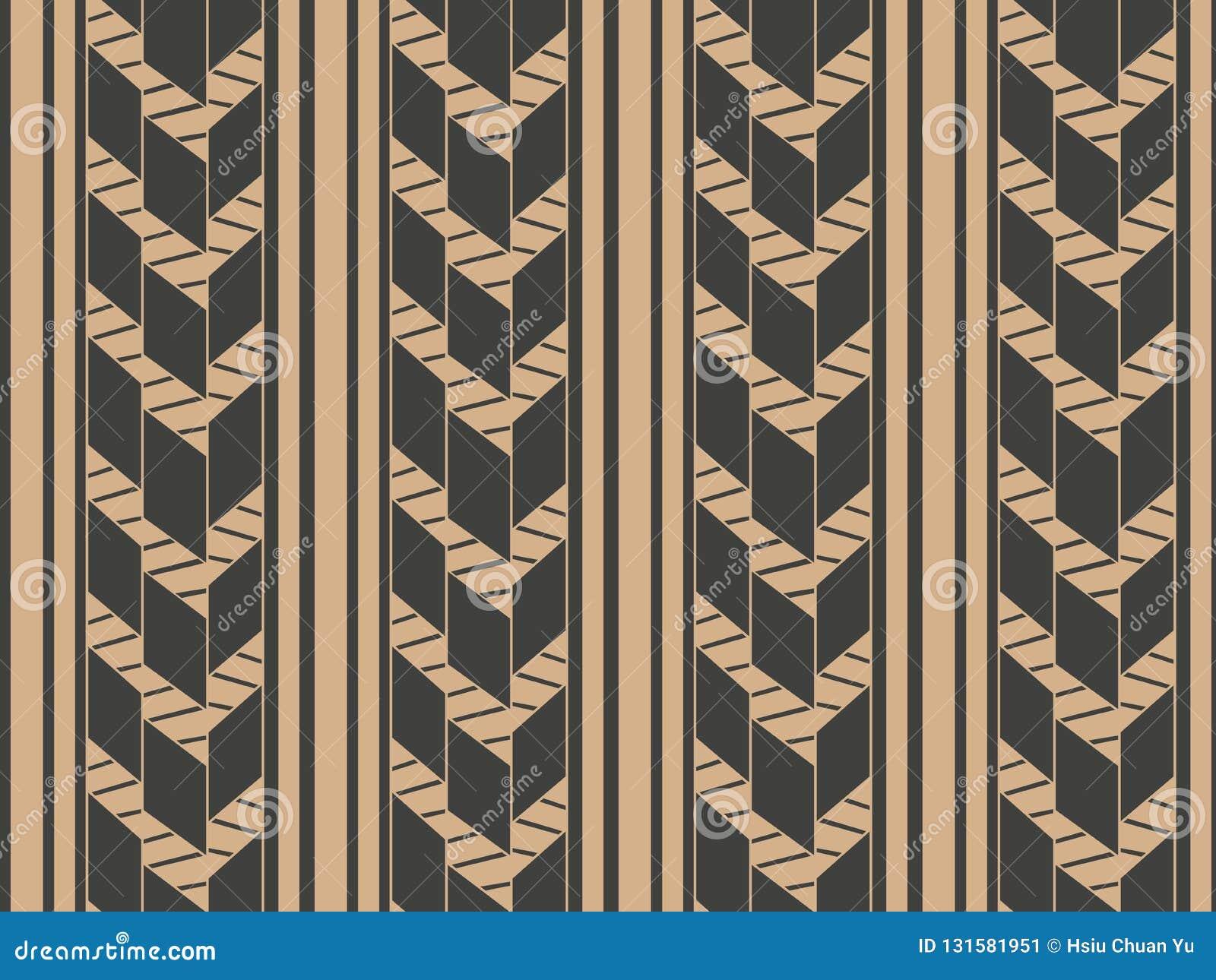 Vector damask seamless retro pattern background geometry cross frame line. Elegant luxury brown tone design for wallpapers,