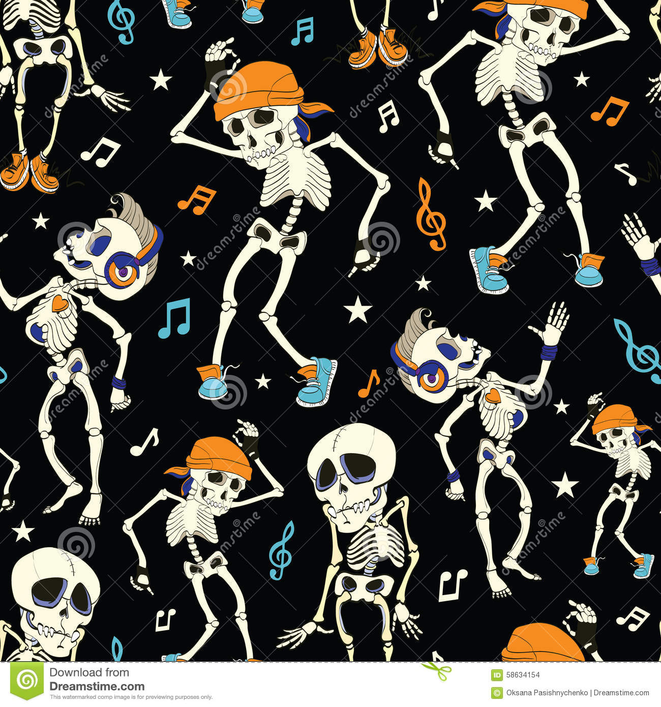 Vector Cartoon Halloween Skeletons Royalty Free Stock Photography ...