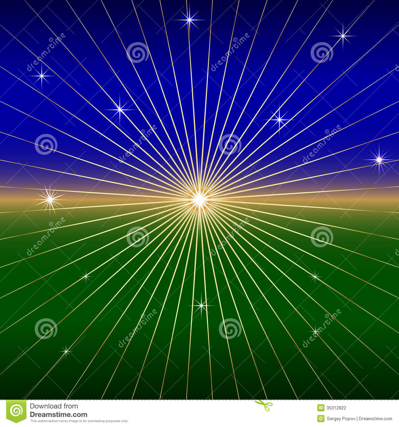 vector dark background with star and rays stock photography