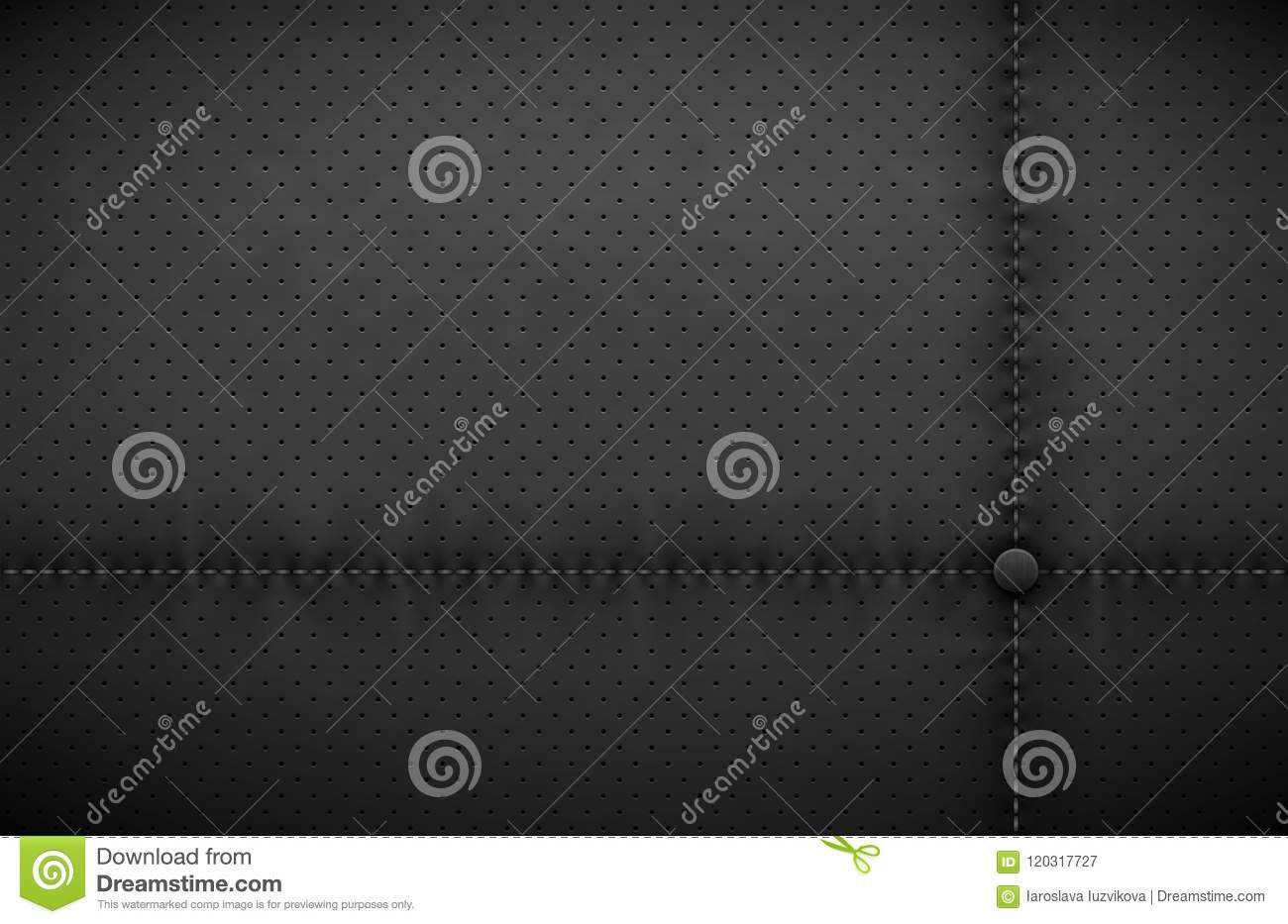 Vector Dark Gray Perforated Leather Texture Wallpaper