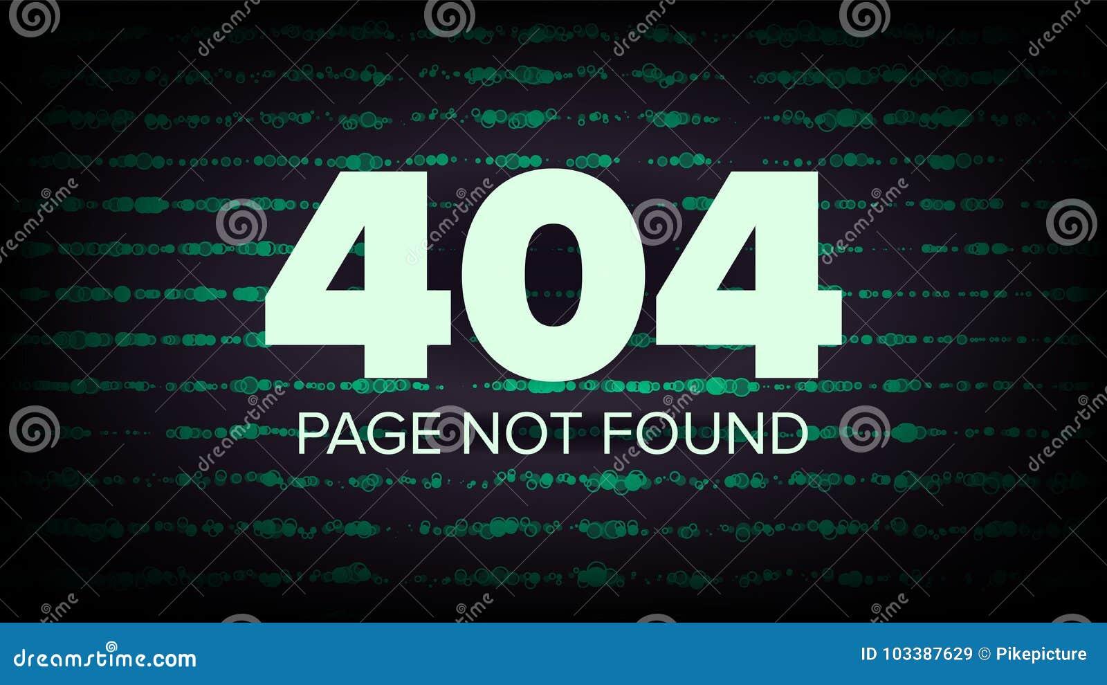 Vector De 404 Errores Paginación No Encontrada Ejemplo Del Concepto ...