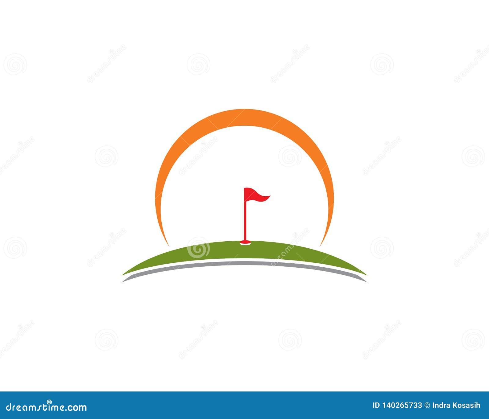 Vector de illustratiepictogram van golflogo template
