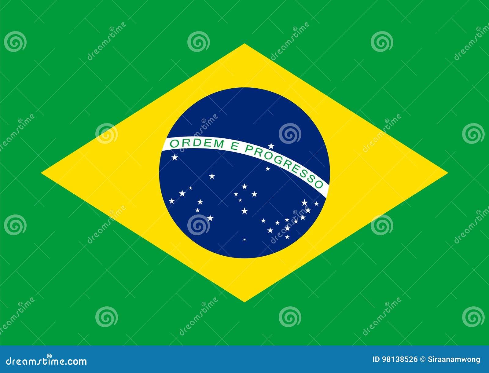 Vector de la bandera del Brasil