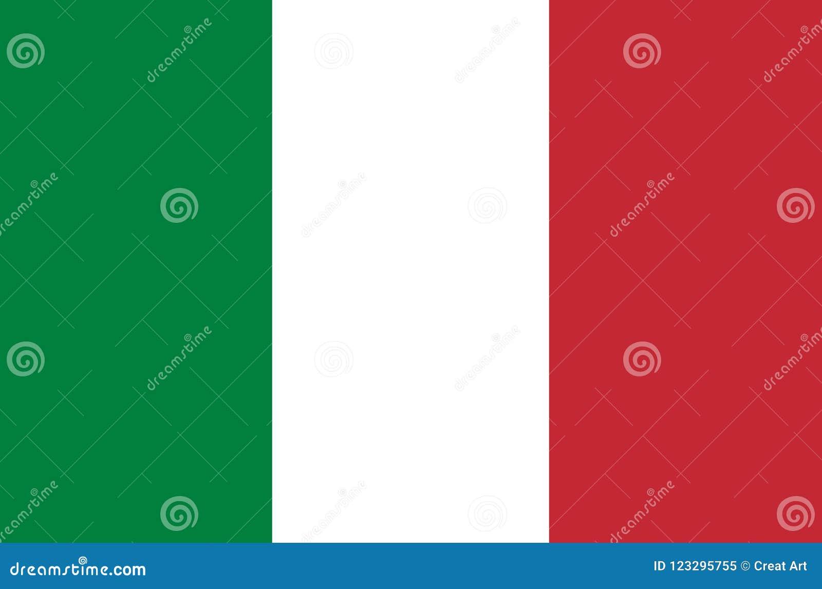 Vector de la bandera de Italia Ejemplo de la bandera de Italia