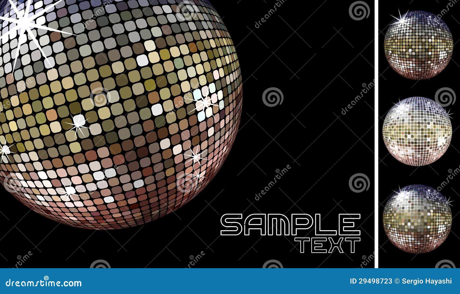 Vector de la bola de discoteca ilustraci n del vector - Bola de discoteca de colores ...