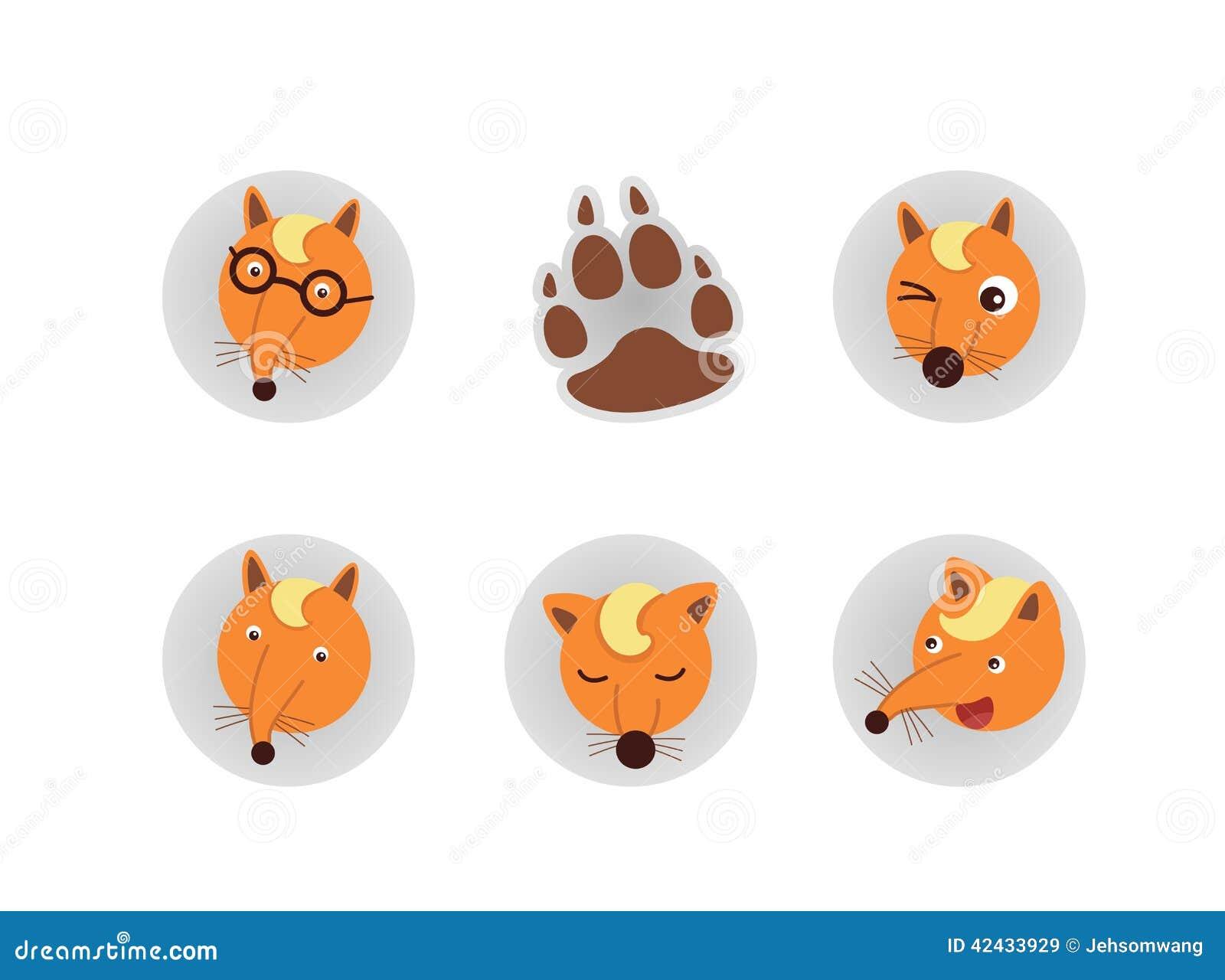 Vector de la cabeza del Fox