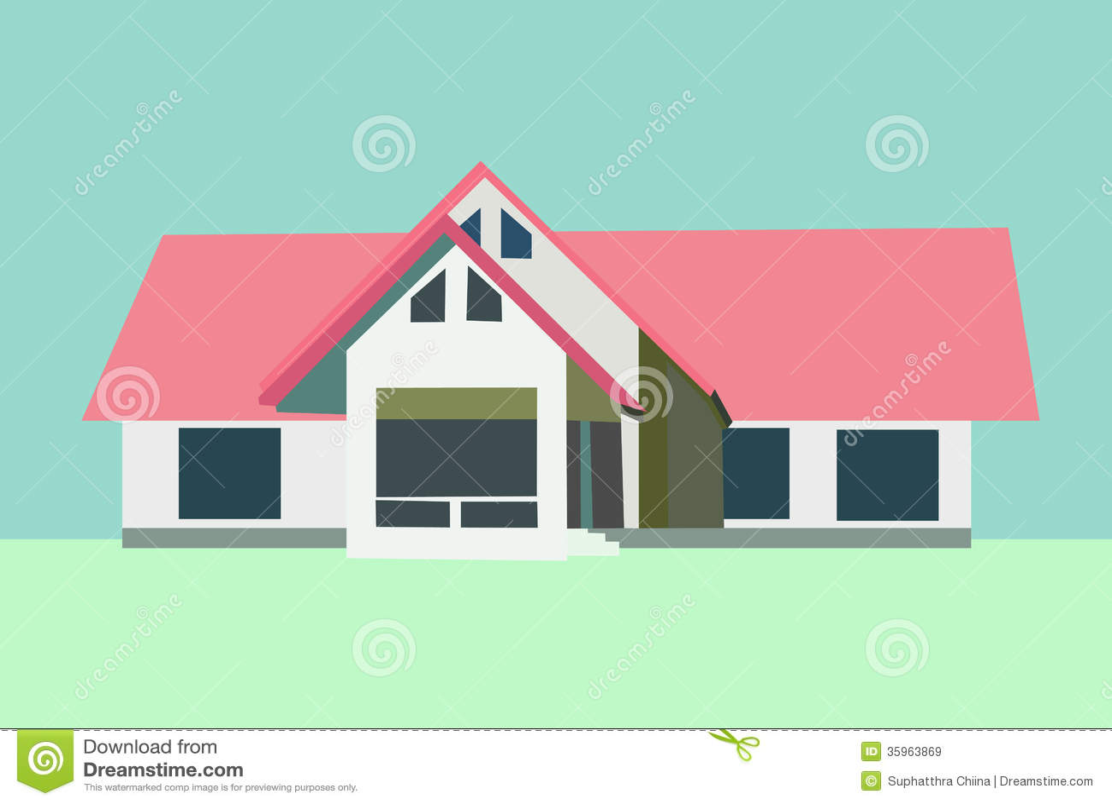 Vector de la casa