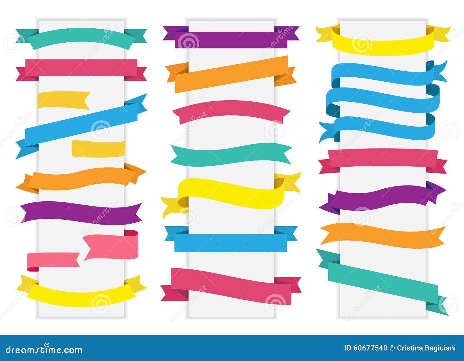 Vector de la cinta de la bandera de la etiqueta de la etiqueta