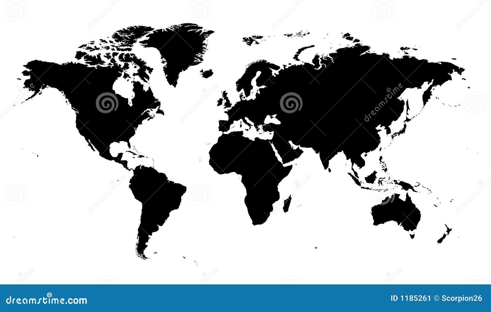 Vector de la correspondencia de mundo