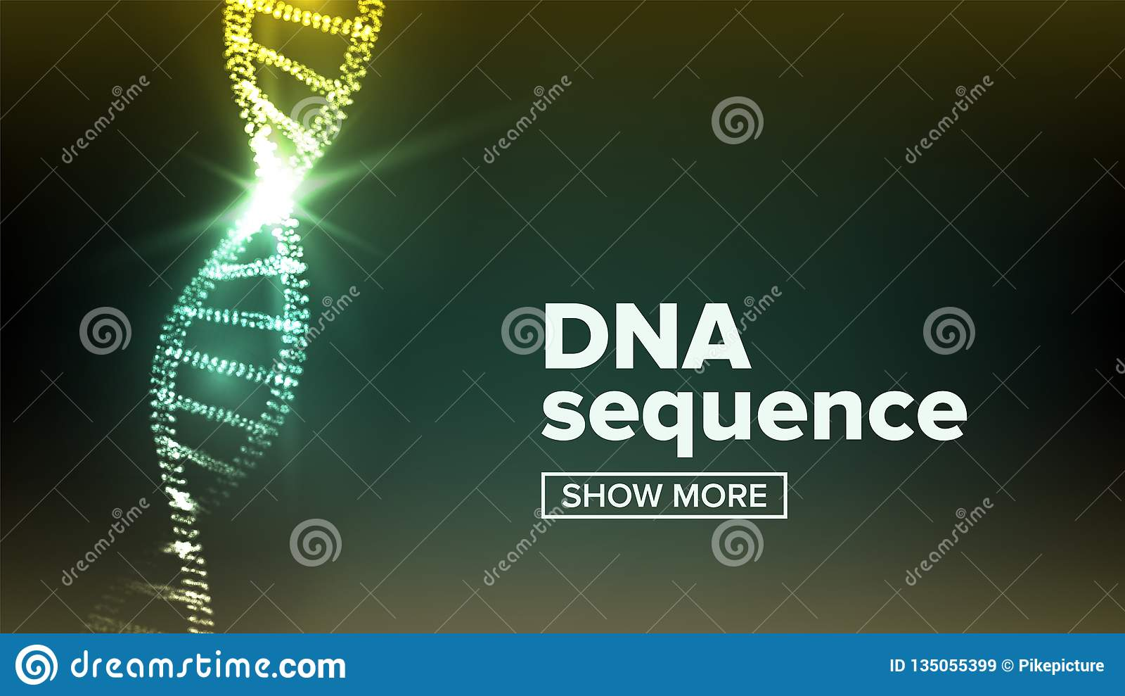 Vector de la estructura de la DNA Fondo de la ciencia Concepto de la biotecnología GENOMA HUMANO Ilustración