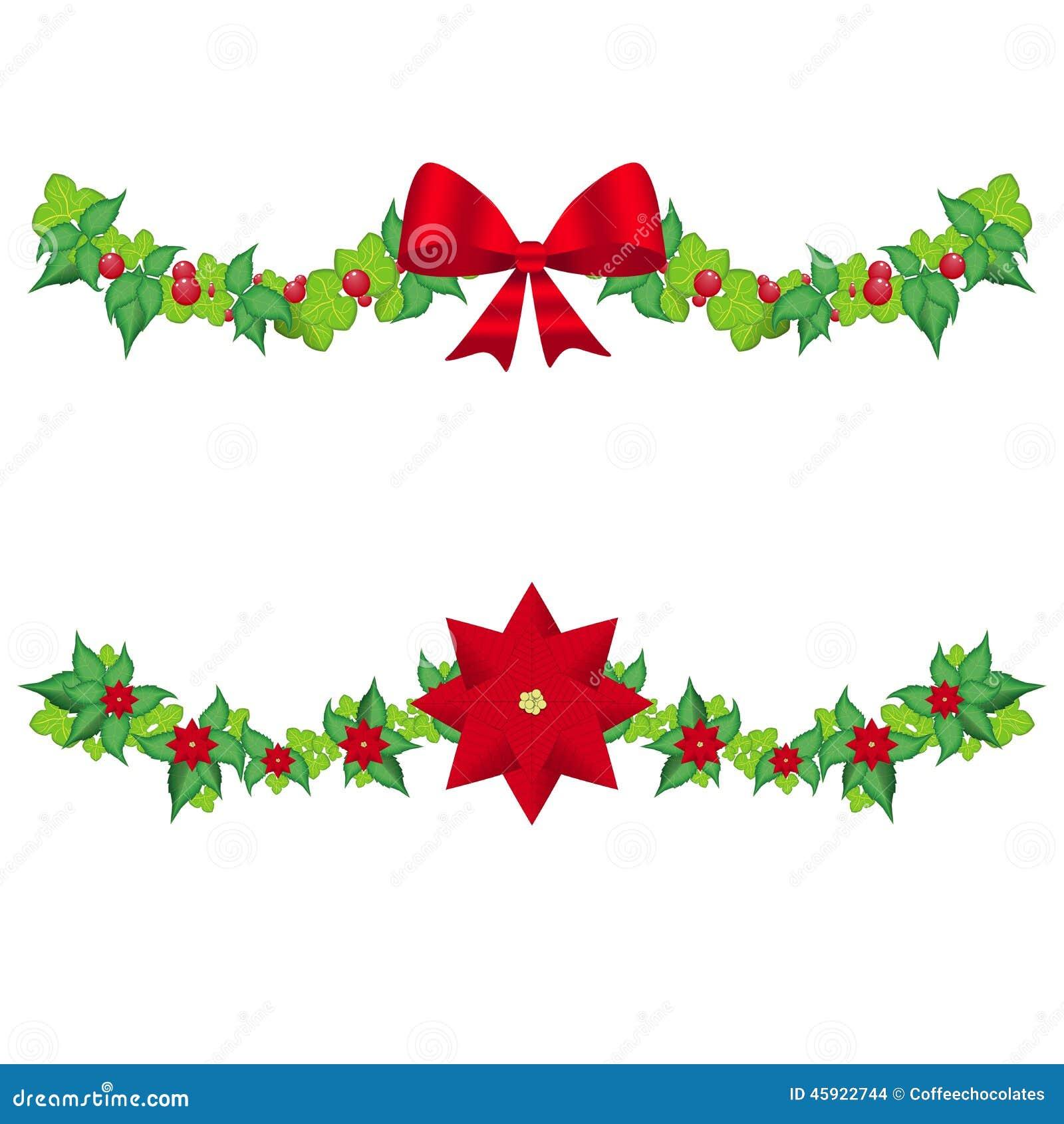 Vector de la guirnalda del acebo de la navidad ilustraci n - Guirnalda de navidad ...