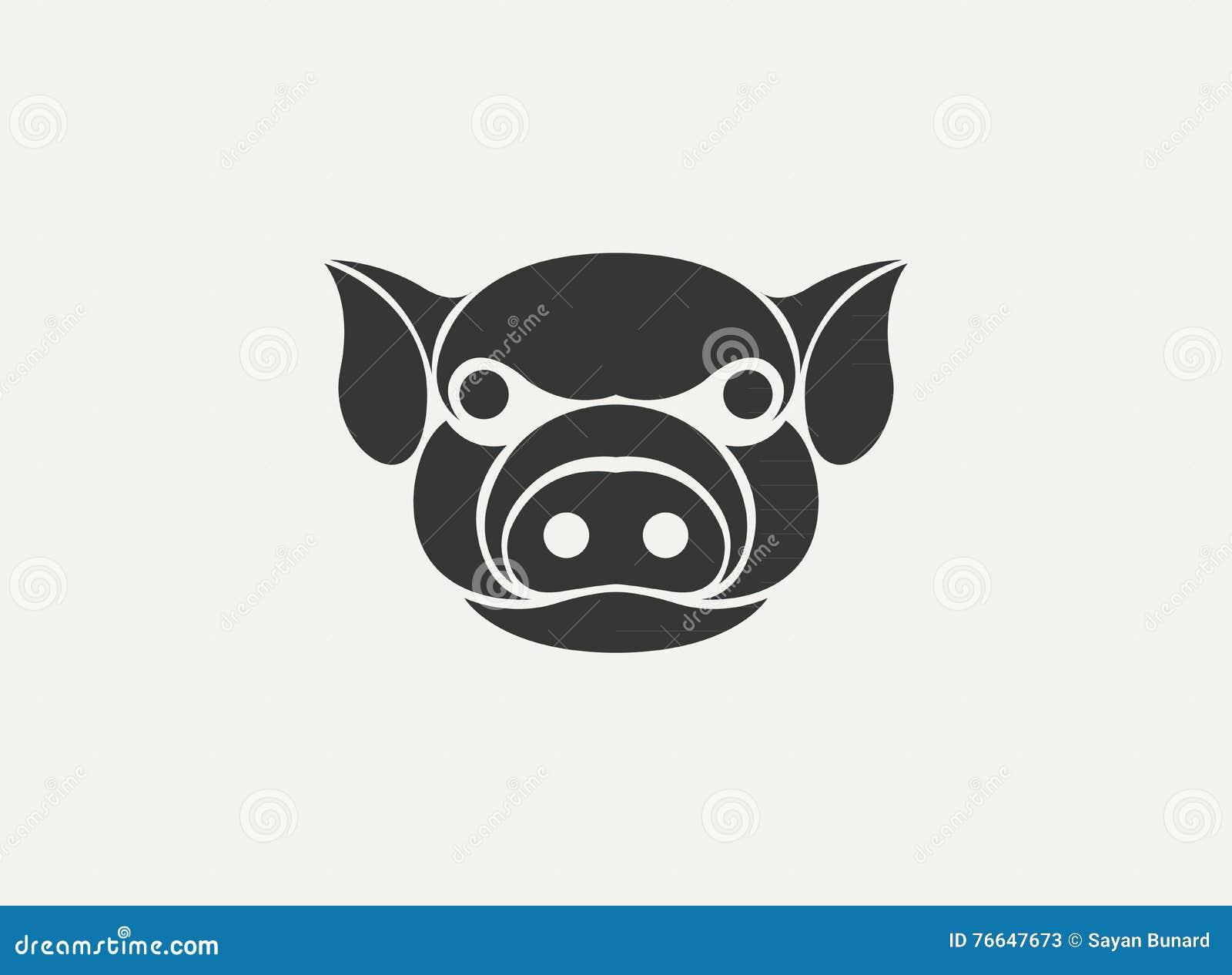 Vector De La Plantilla Del Logotipo Del Cerdo Ilustración del Vector ...