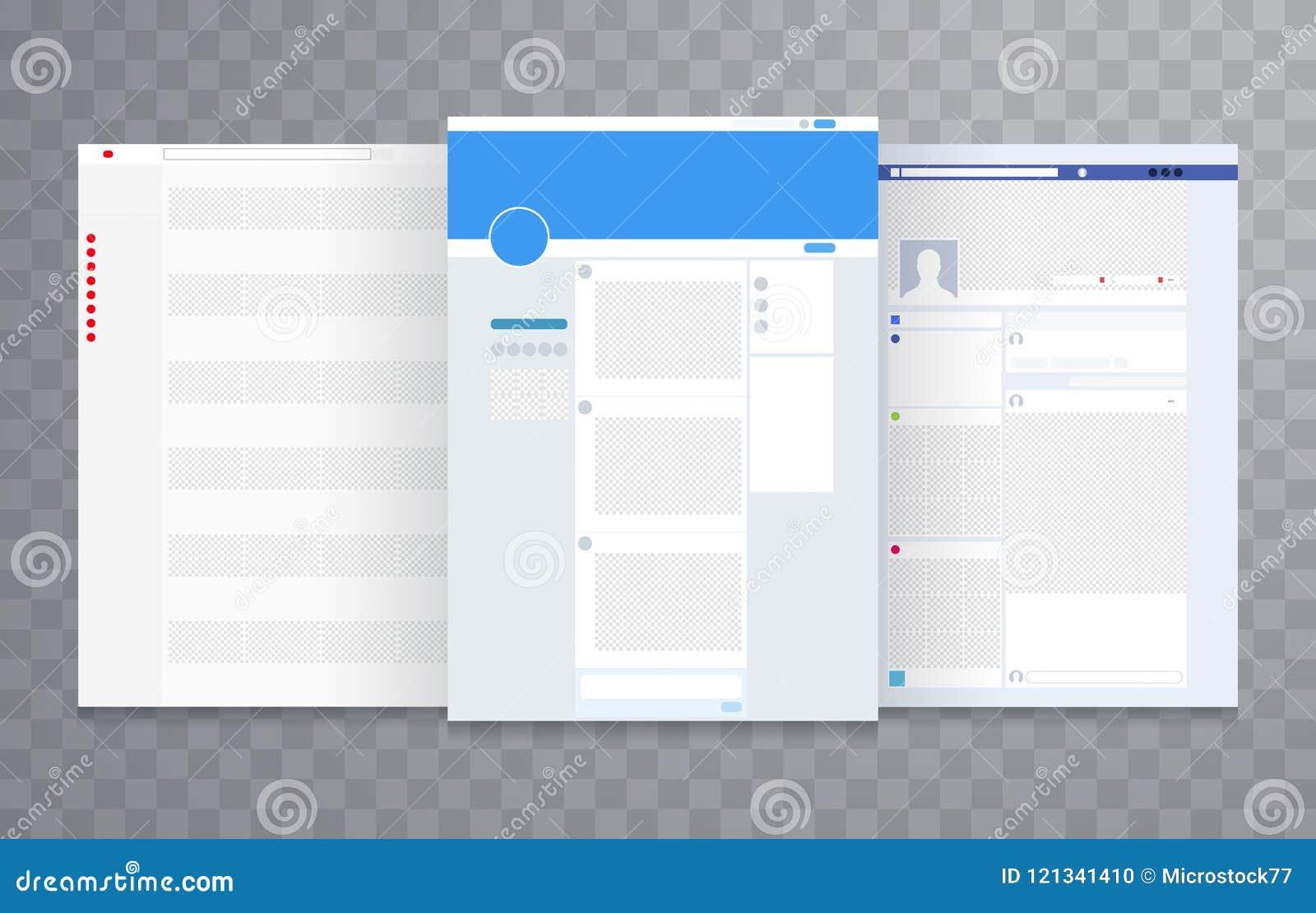 Vector de la plantilla de la disposición del sitio web